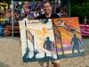 Wallersee Beach Trophy 2013 im Strandbad Henndorf am Wallersee am 7.7.2013 veranstaltet von abc-henndorf 08   Gewinner eines Gemäldes: Michael Graf aus Henndorf   Foto und Copyright: Moser Albert, Fotograf und Pressefotograf, 5201 Seekirchen, Weinbergstiege 1, Tel.: 0676-7550526 mailto:albert.moser@sbg.at  www.moser.zenfolio.com
