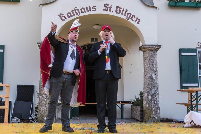 Bühnenfasching in St Gilgen am 25.02.2017, veranstaltet von der Faschingsgilde Schwarze Hand; Fabian Kogler als Donald Trump   Foto und Copyright: Moser Albert, Fotograf, 5201 Seekirchen, Weinbergstiege 1, Tel.: 0043-676-7550526 mailto:albert.moser@sbg.at  www.moser.zenfolio.com
