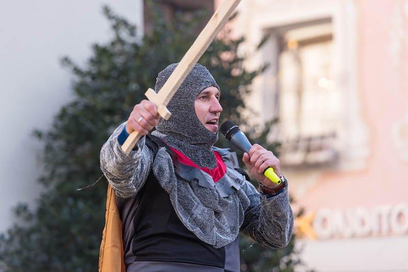 Bühnenfasching in St Gilgen am 25.02.2017, veranstaltet von der Faschingsgilde Schwarze Hand; Gruppe Preyhaupt