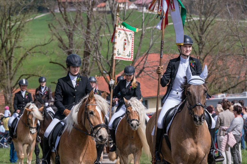 Kirchberger Georgiritt in Eugendorf am 15.04.2018  Foto und Copyright: Moser Albert, Fotograf, 5201 Seekirchen, Weinbergstiege 1, Tel.: 0043-676-7550526 mailto:albert.moser@sbg.at  www.moser.zenfolio.com