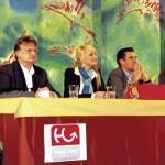 Standen den Schülern Rede und Antwort: Nina Ritter (HAK Neumarkt), Johann Wiedlroither (Mondsee-Treuhand), Lisa Auer (Salzburger Sparkasse), Christian Klement (ePunkt Internet Recruiting), Vanessa Kneißl (Liebherr) und Franz Wührer (HILL International).