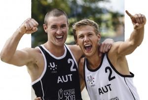 Die Olympischen Spiele sind das große Ziel von Florian Schnetzer (rechts) aus Unterach und seinem Partner Michi Murauer.
