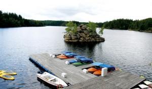 Natur pur: Ottensteiner Stausee. Der könnte genau so gut irgendwo in Kanada sein